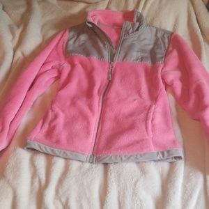 Pink and grey fuzzy jacket